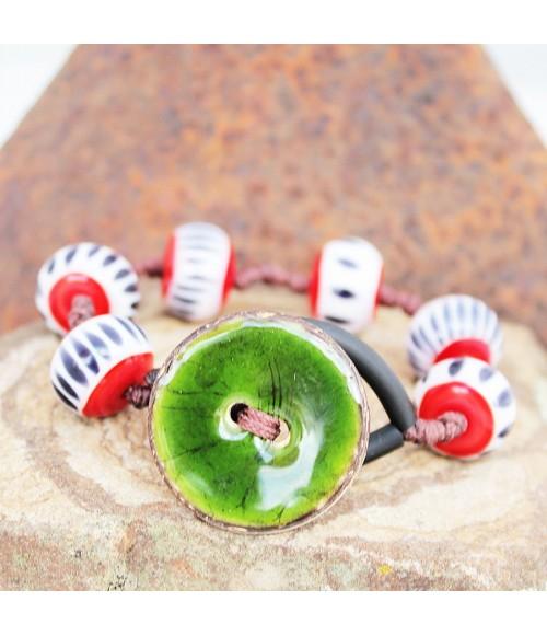 """""""Button Style"""" Pulsera cristal de murano"""