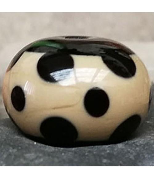 Bolita cristal de murano negra y caqui