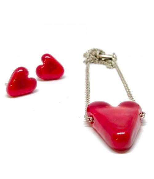 """Conjunto cristal de Murano """"Forever Love"""""""