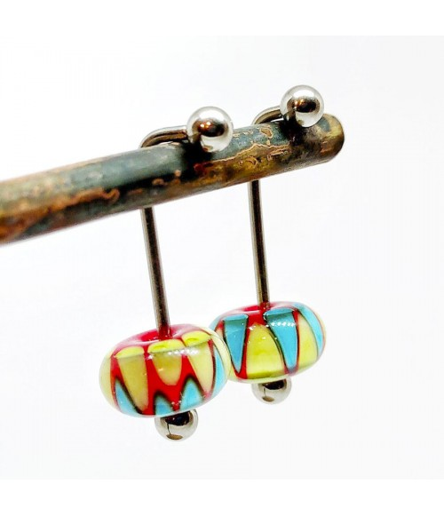 "Pendientes piercings cristal de Murano ""Watermelon"""