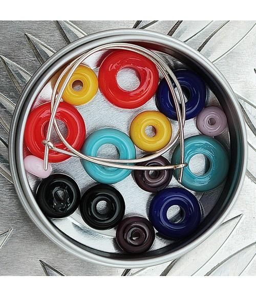 Pendiente aro de plata y cristal de Murano Kit Week