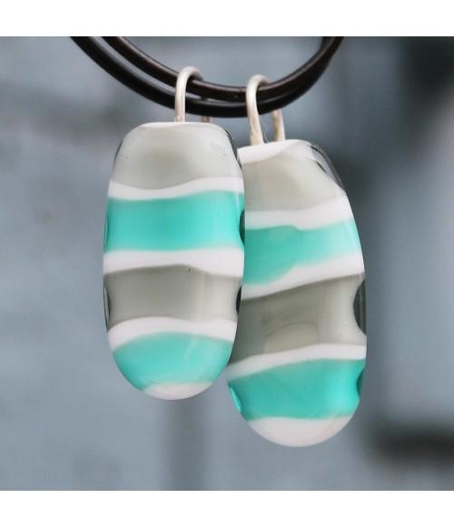"""Pendientes cristal de Murano y plata """"Tanguy"""""""