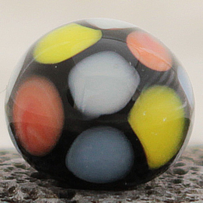 negro con lunares multicolor y punto transparente