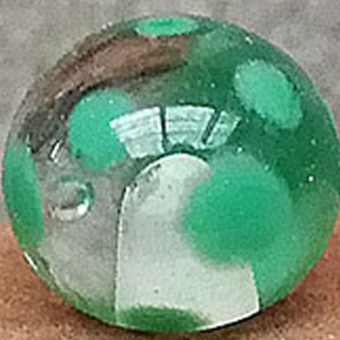 transparente con lunares verde hierba