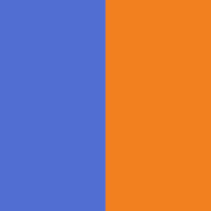 Azul vaquero-naranja