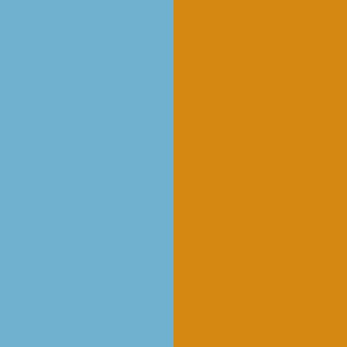 azul celeste-naranja