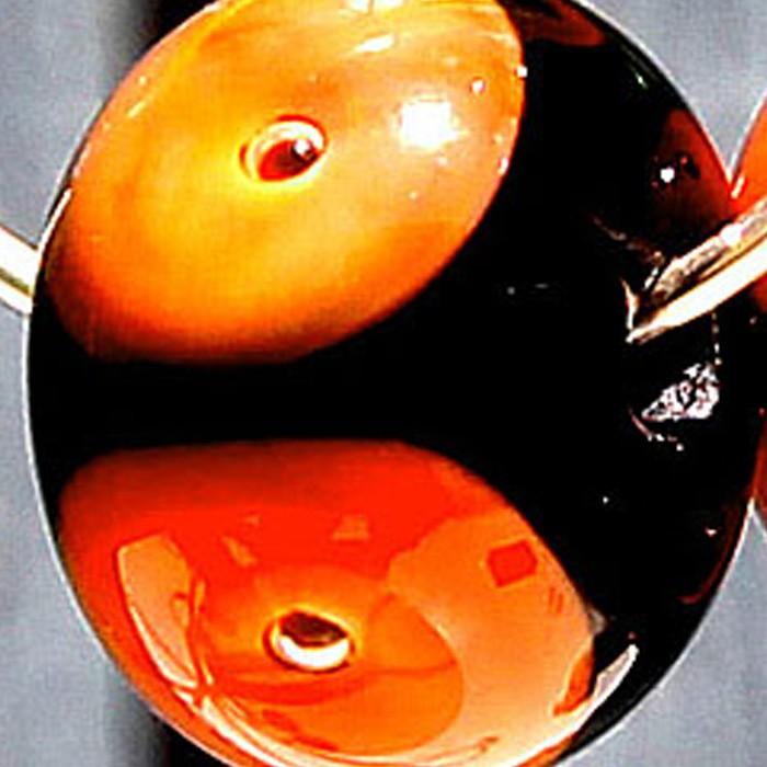 negro con punto naranja, burbuja y punto transparente