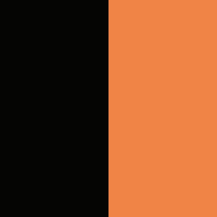 negro y naranja coral