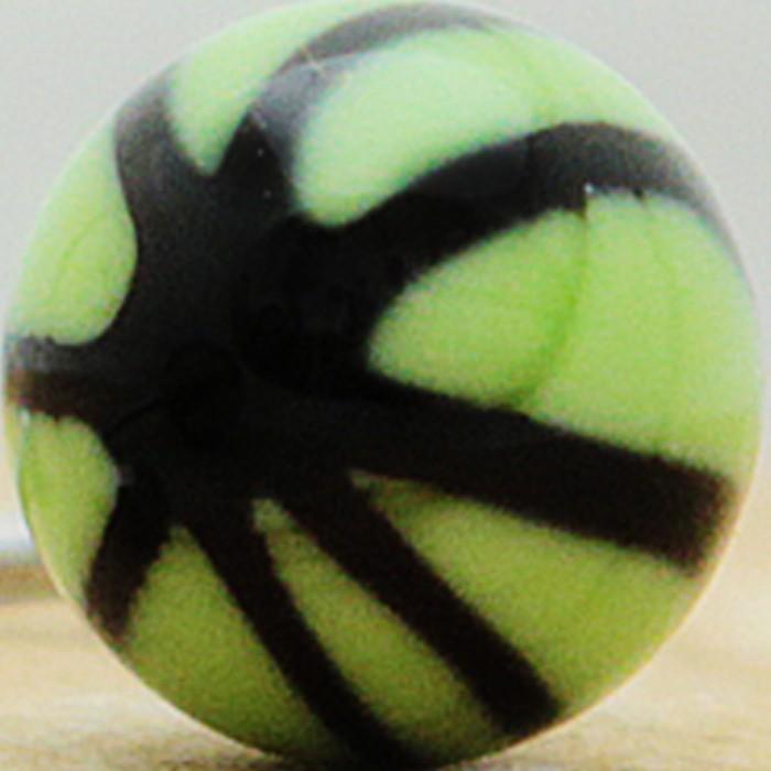verde manzana con asterisco negro