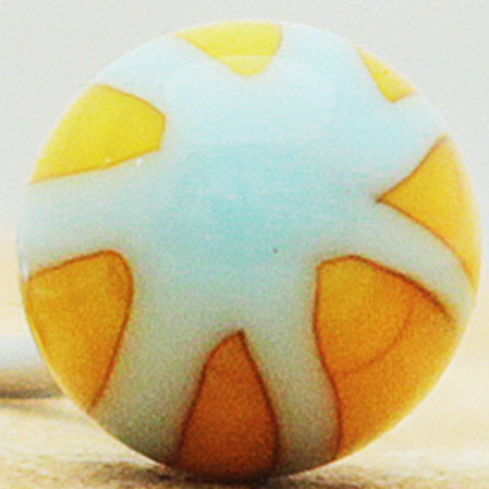 amarillo limón y asterisco celeste