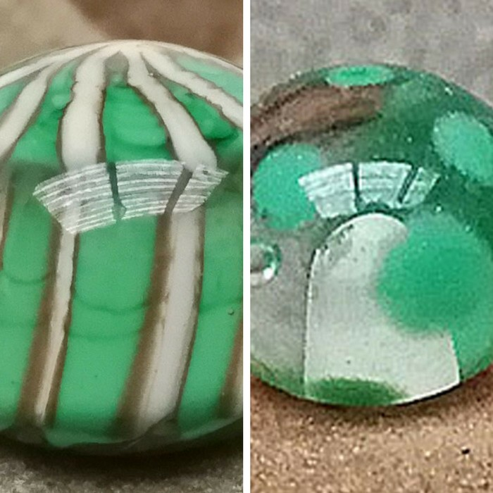 verde hierba, rayas marfil claro y capa transp. - transparente y lunares verde hierba