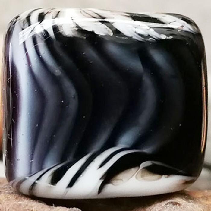 marfil claro con rayas negras y capa transparente
