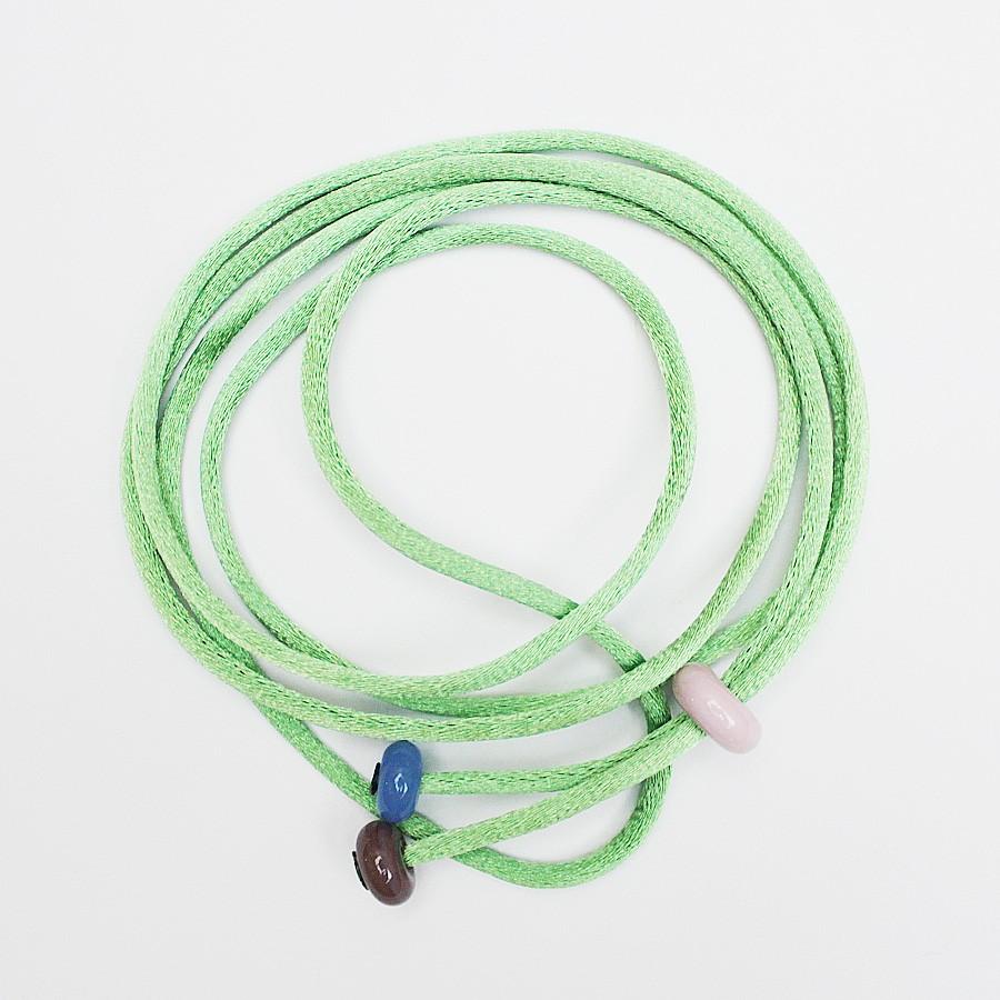 cordón verde manzana