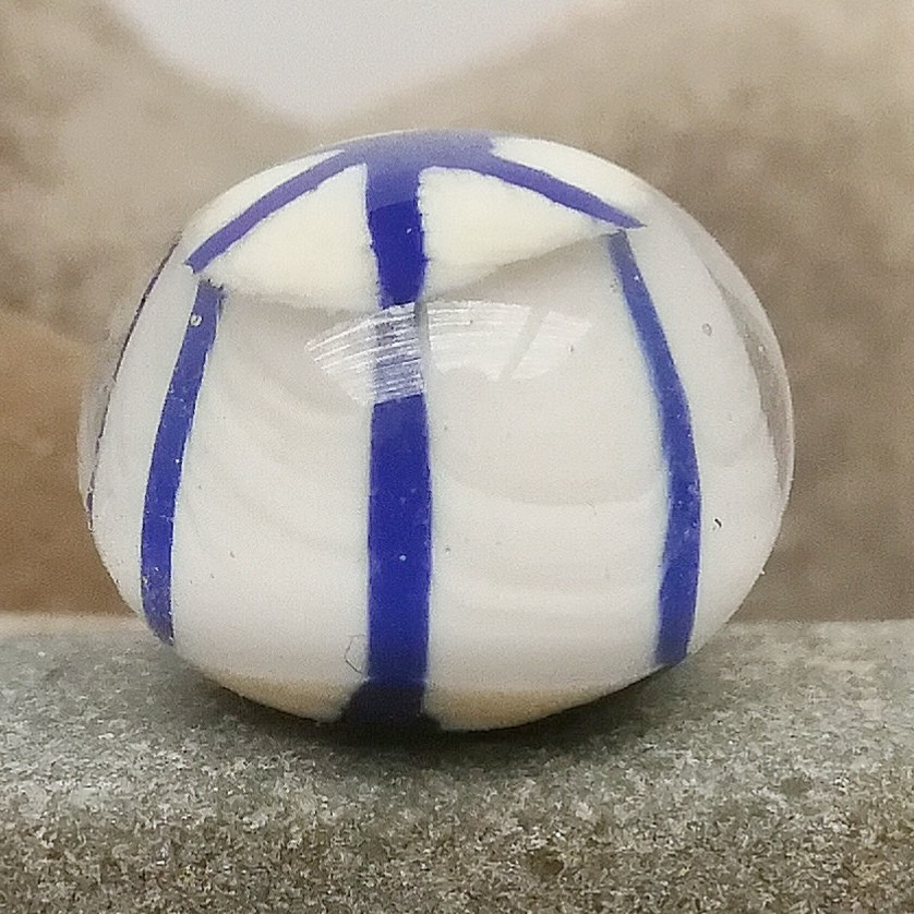 marfil con rayas asterisco lapislázuli y capa transparente