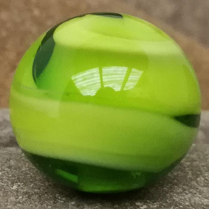 blanco con melange verde lima y capa transparente