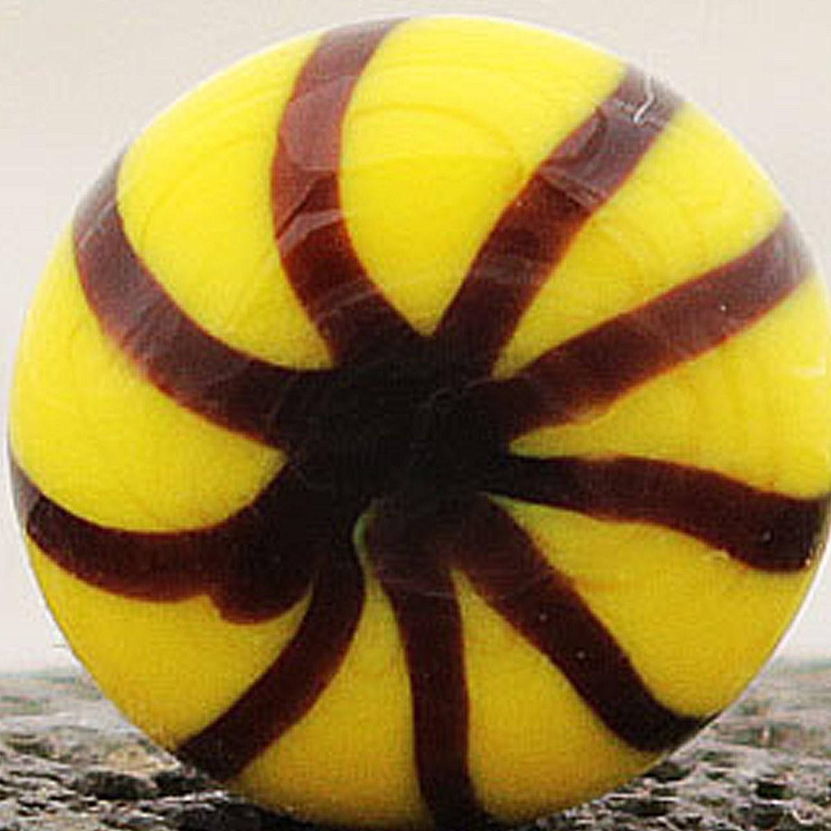 amarillo azufre con rayas negras dibujando un asterisco