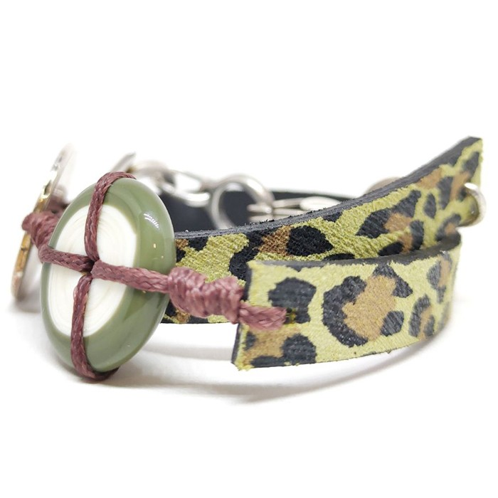 Animal print leopardo verde