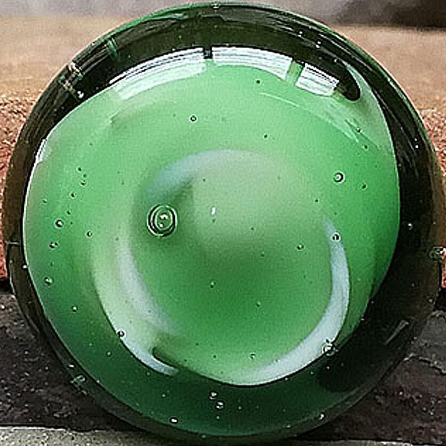 blanco con melange verde botella transparente y envuelto de transparente